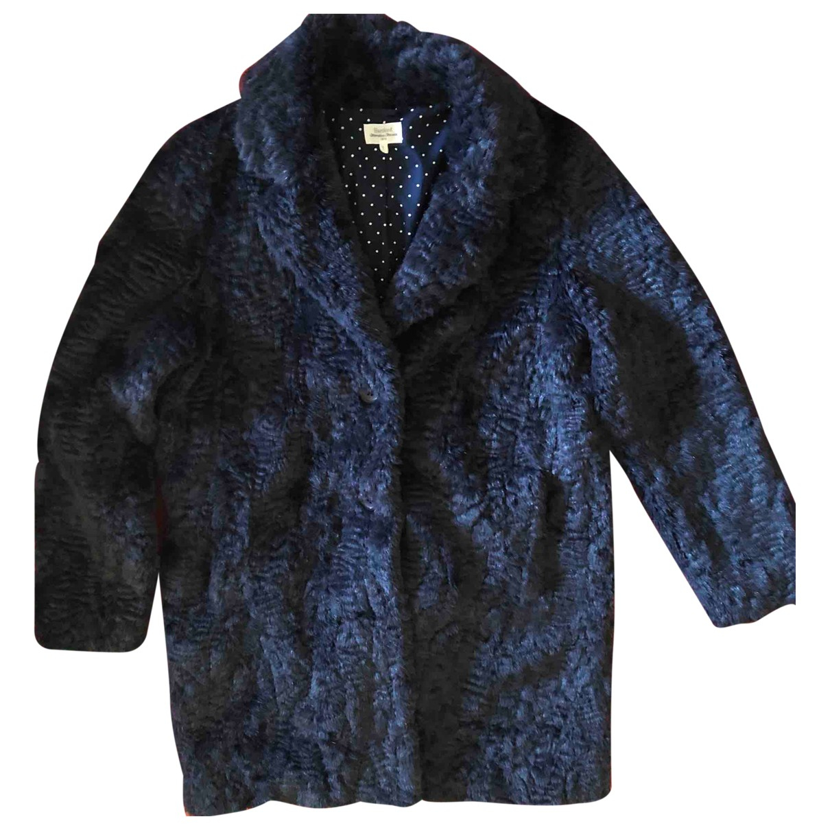 Hartford N Blue Faux fur coat for Women 42 IT