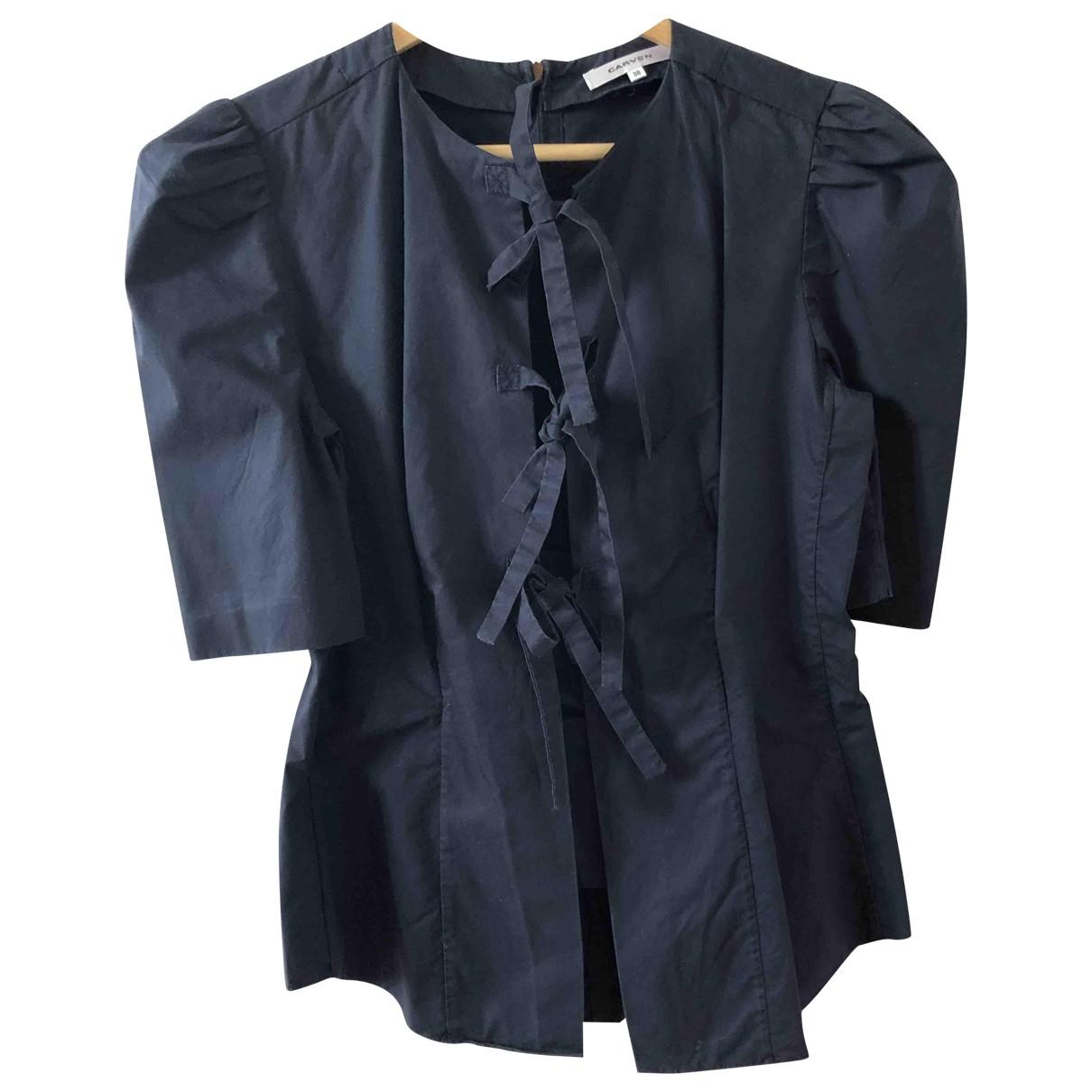 Carven - Top   pour femme en coton - marine