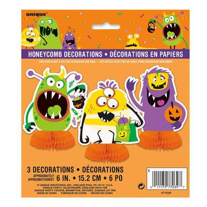 Truc de Halloween ou traiter des décorations en nid d'abeille de centre de table, 6