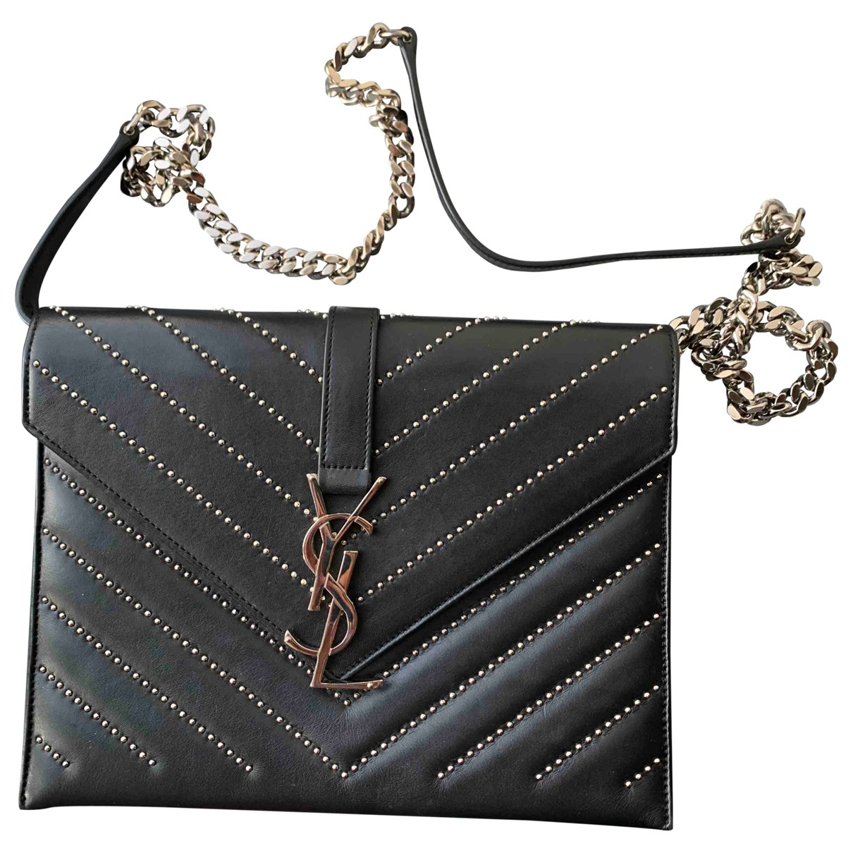 Saint Laurent Satchel monogramme Black Leather handbag for Women \N