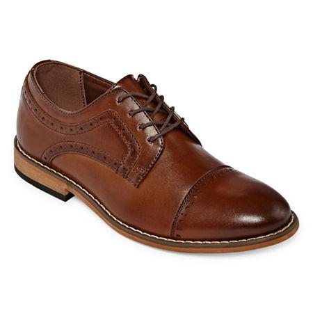 Stacy Adams Little Kid/Big Kid Boys Dickinson Oxford Shoes, 1 Medium, Brown