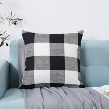 Gingham Pattern Cushion Cover Without Filler