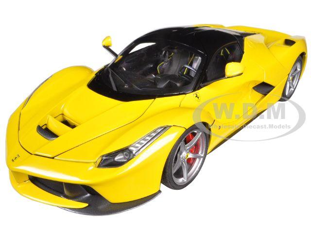 Ferrari Laferrari F70 Hybrid Elite Edition Yellow 1/18 Diecast Car Model by Hotwheels