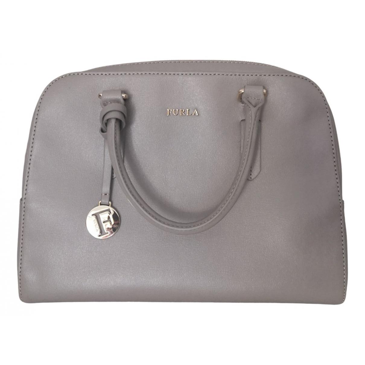 Furla \N Handtasche in  Grau Leder