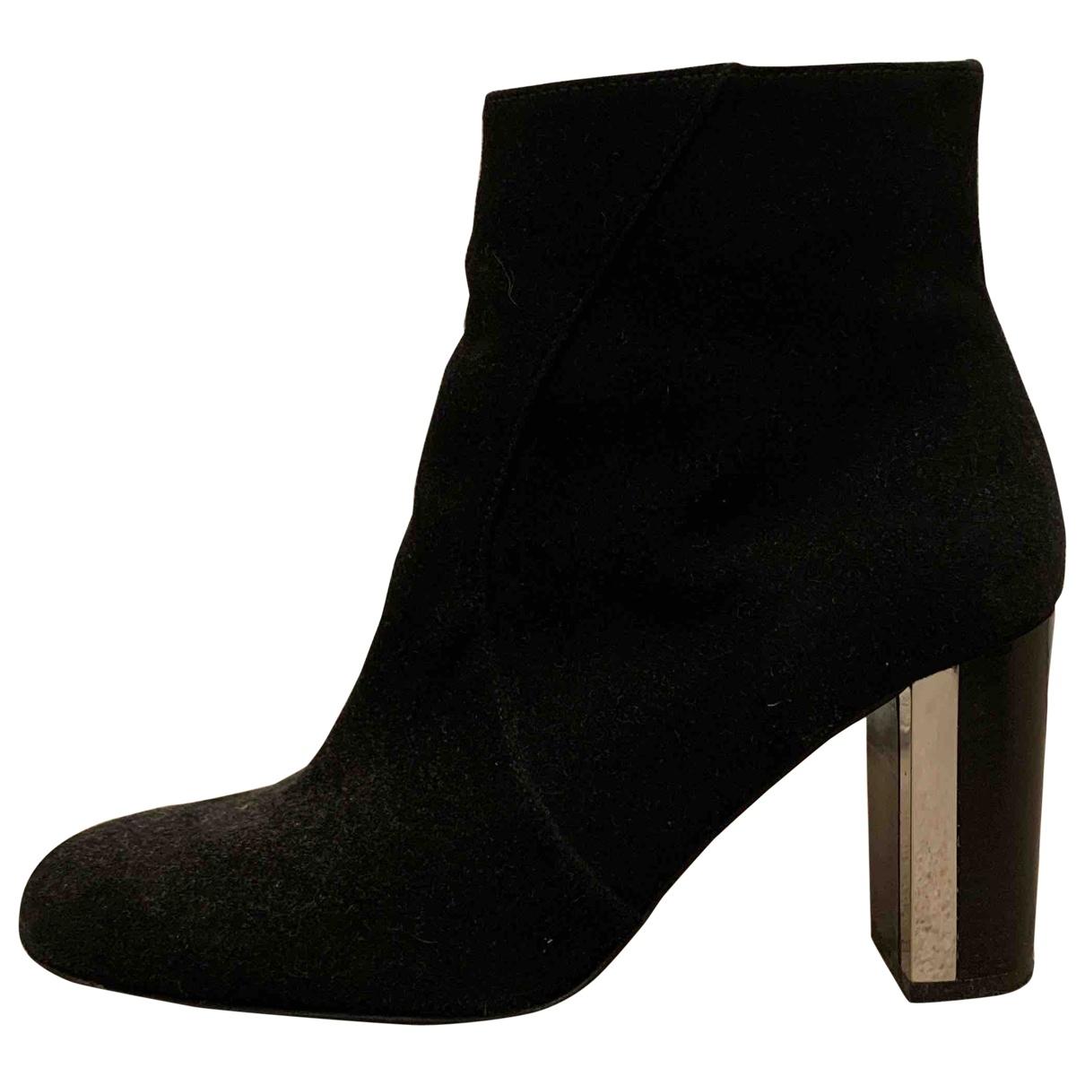Karen Millen - Bottes   pour femme en cuir - noir
