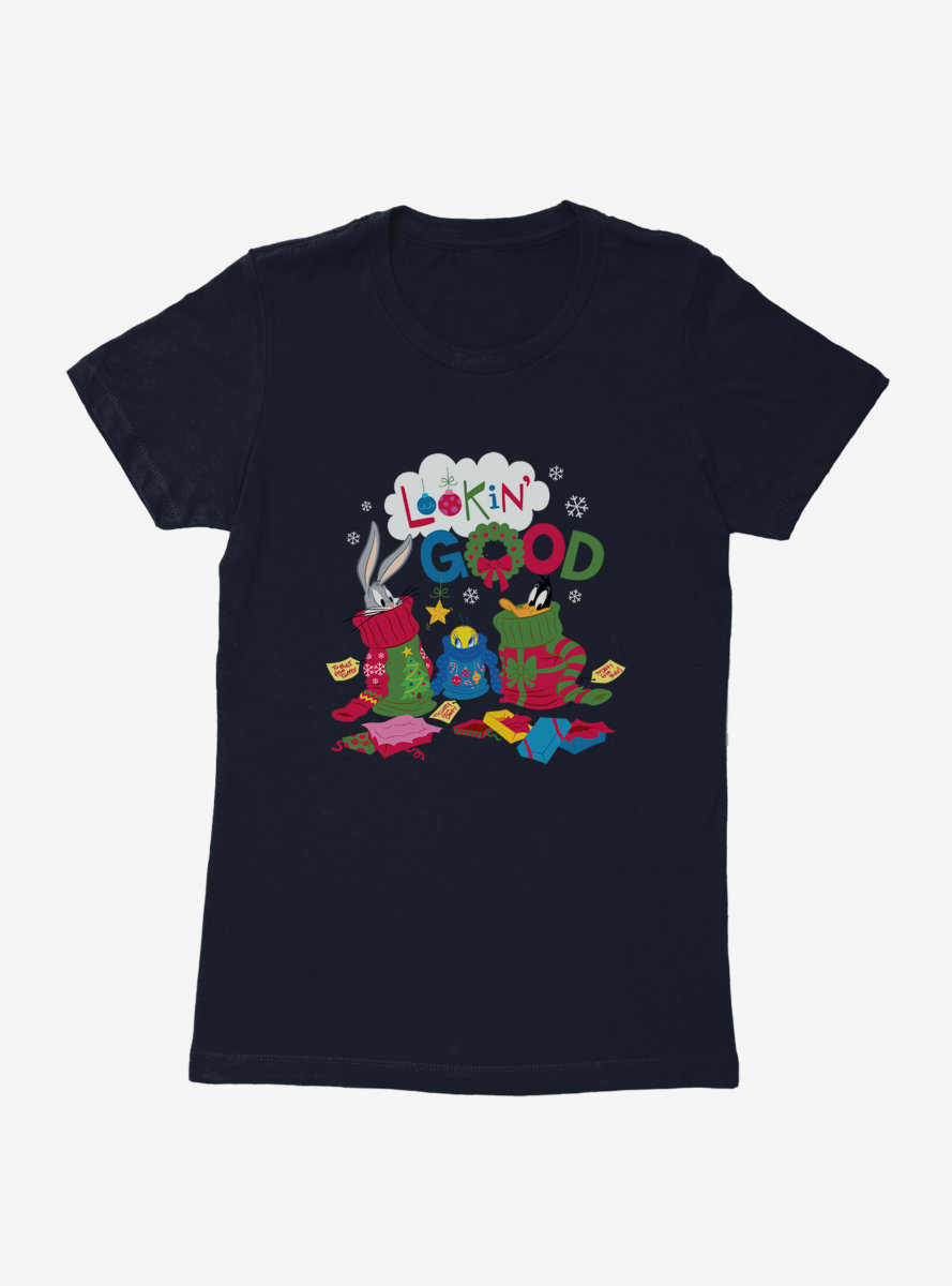 Looney Tunes Holiday Looking Good Womens T-Shirt