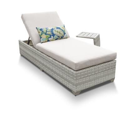 FAIRMONT-1x-ST Fairmont Chaise Outdoor Wicker Patio Furniture With Side Table with 1 Cover in