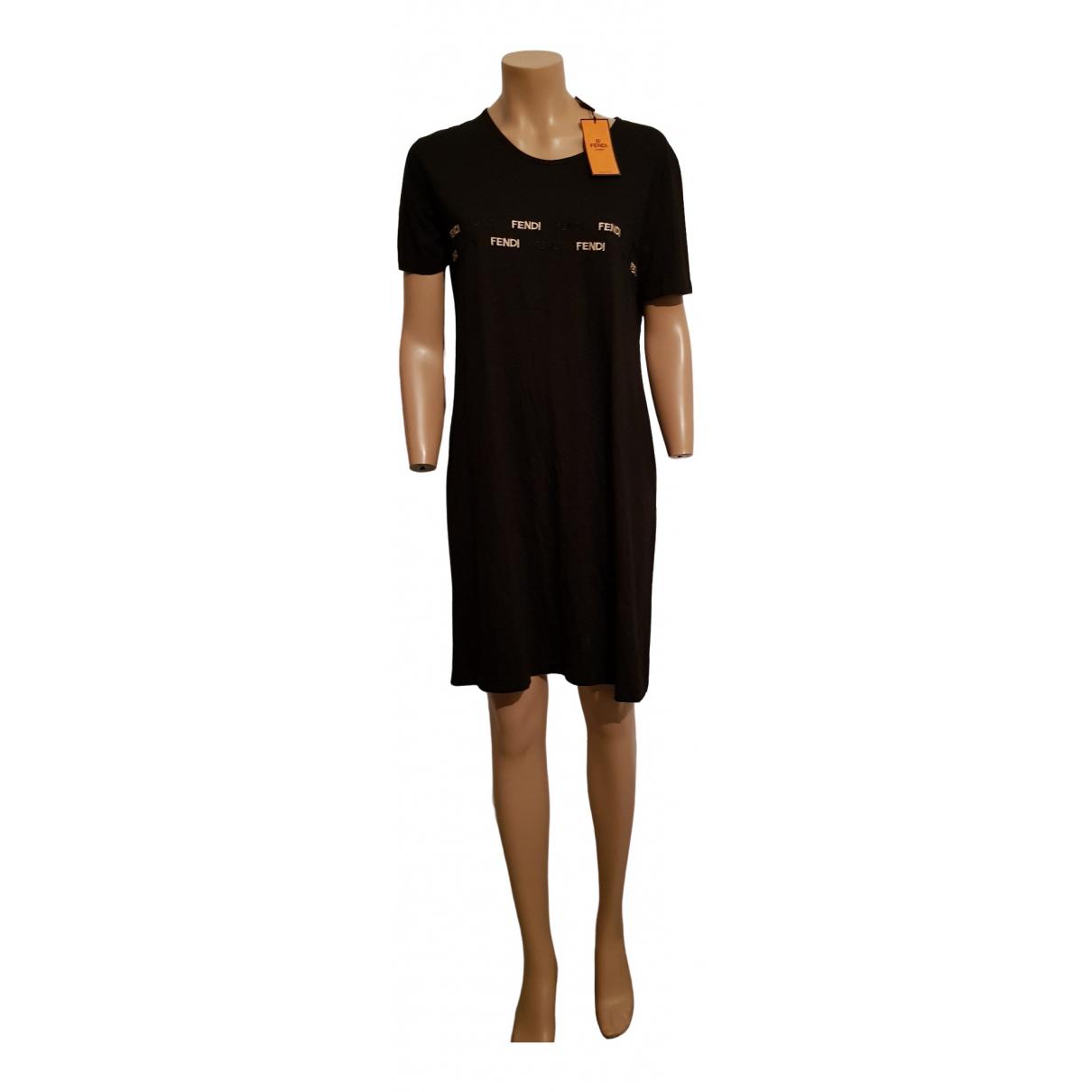 Fendi \N Black Cotton dress for Women 46 IT