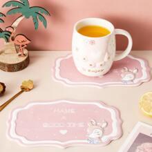 1pc Deer Print Coaster