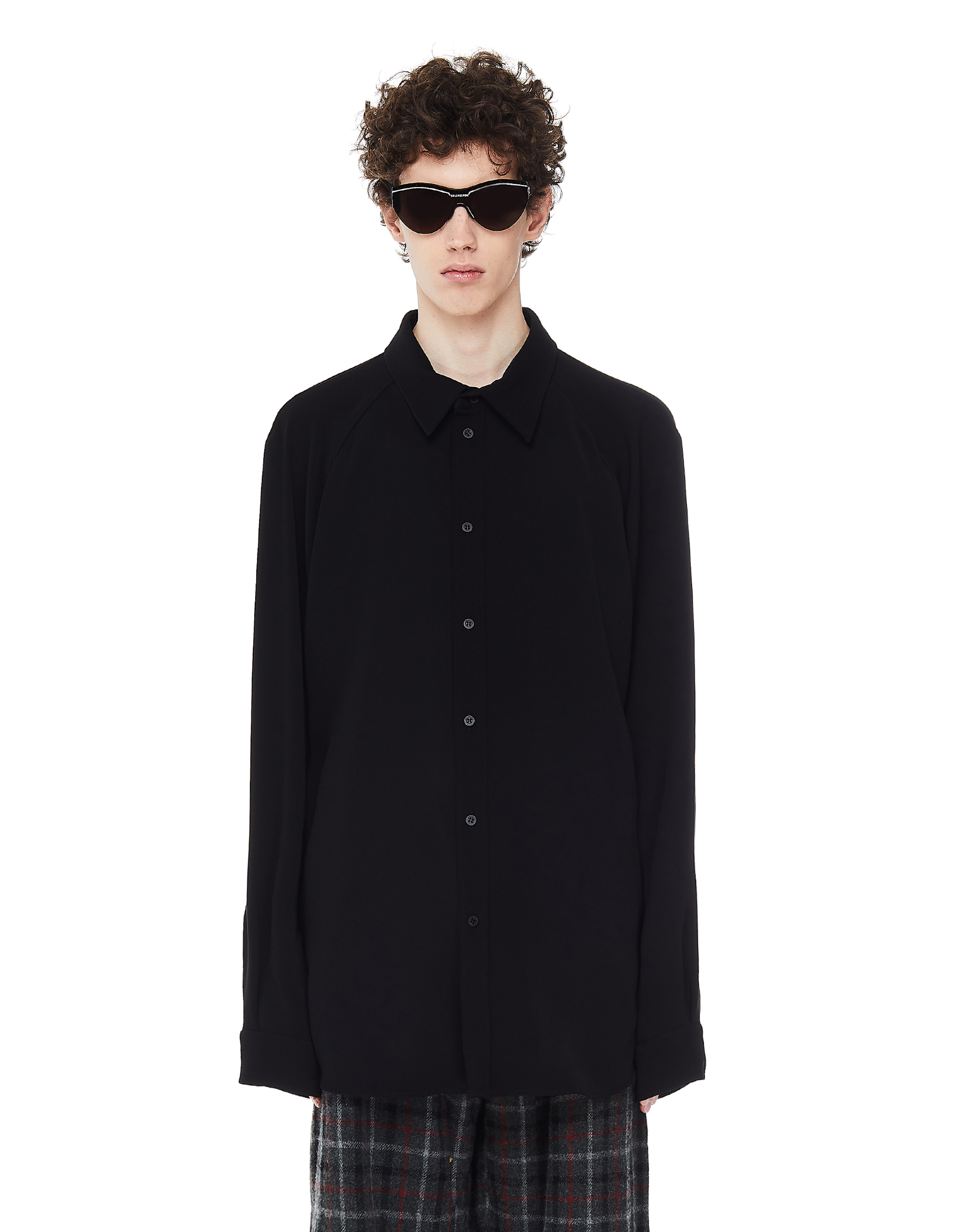 Balenciaga Black Raglan Shirt