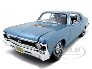 1970 Chevrolet Nova SS Coupe Blue Metallic 1/18  Diecast Model Car by Maisto