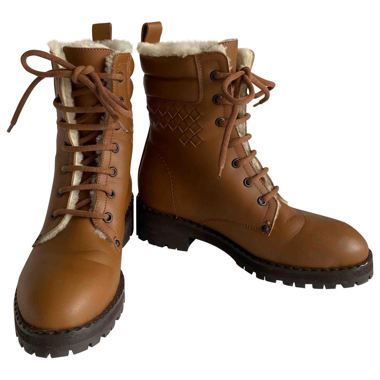 Bottega Veneta \N Camel Leather Boots for Women 36.5 EU