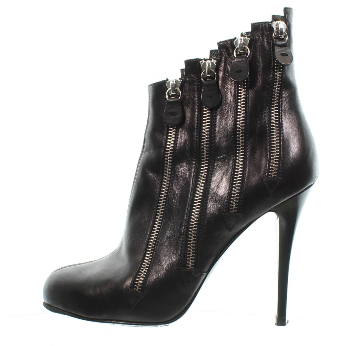 Giuseppe Zanotti \N Black Leather Ankle boots for Women 40 EU
