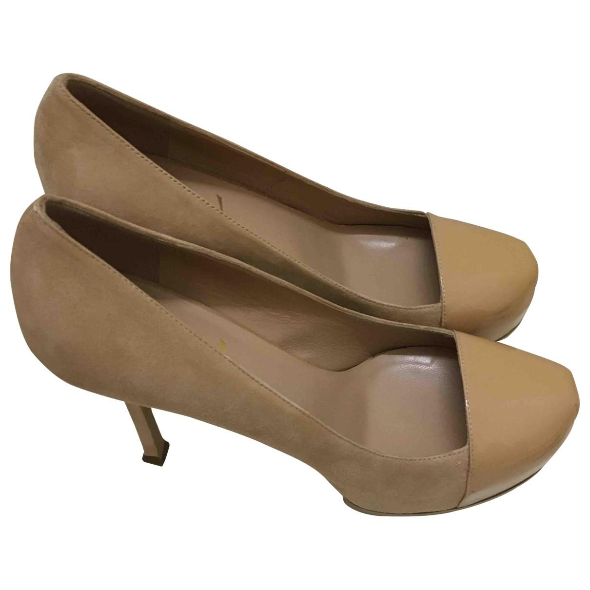 Yves Saint Laurent - Escarpins Trib Too pour femme en suede - beige