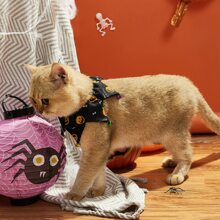 1 Stueck Katze Laetzchen mit Halloween Muster