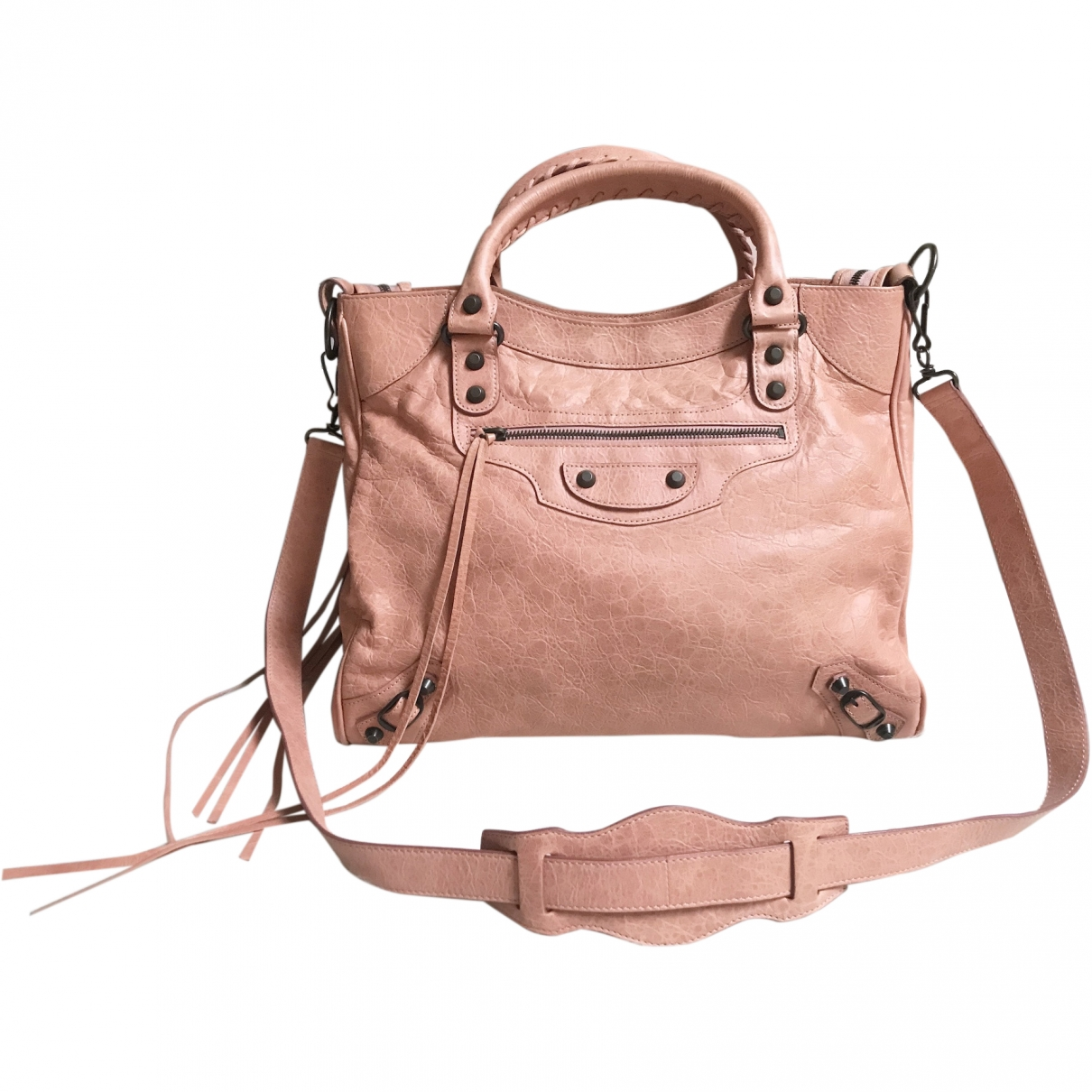 Balenciaga Vélo Pink Leather handbag for Women \N