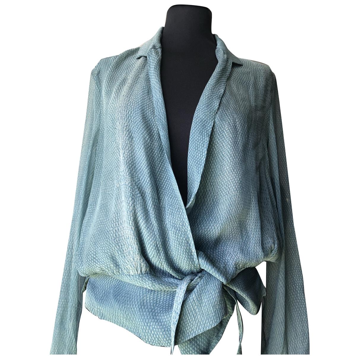Yves Saint Laurent - Top   pour femme en soie - gris