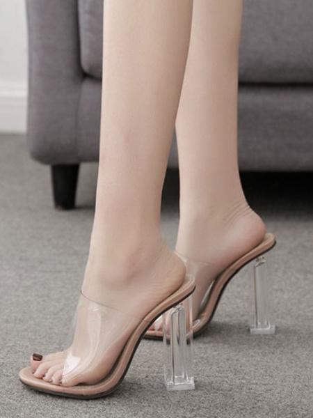 Milanoo Zapatos de tacon alto para mujer con tacon alto y espalda abierta sin espalda