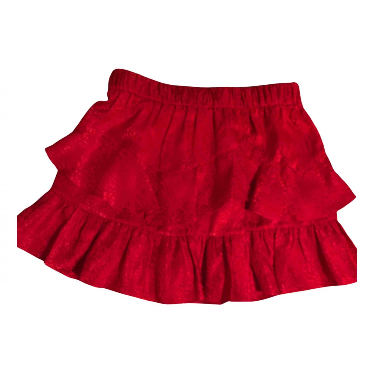 Iro - Jupe Spring Summer 2019 pour femme en soie - rouge