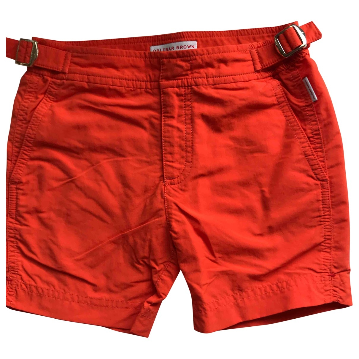 Orlebar Brown \N Shorts in  Orange Polyester