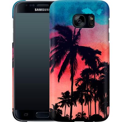 Samsung Galaxy S7 Smartphone Huelle - Palm Trees at Sunset von Mark Ashkenazi