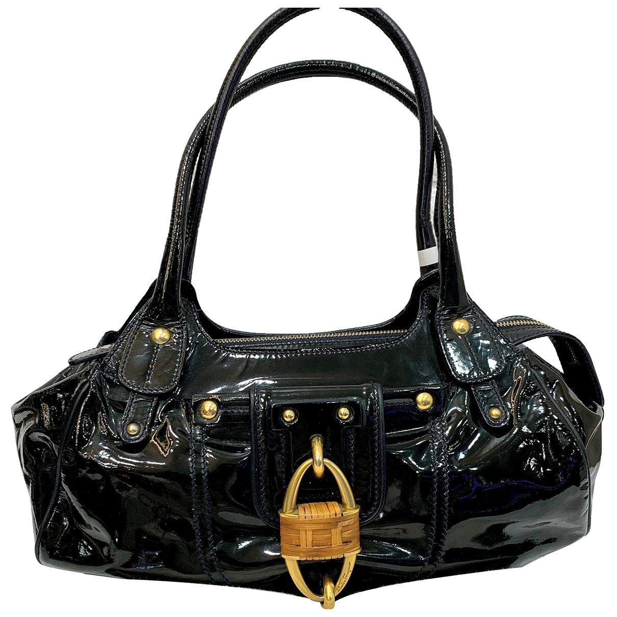 Salvatore Ferragamo \N Black Patent leather handbag for Women \N