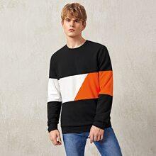 Men Color Block Pullover