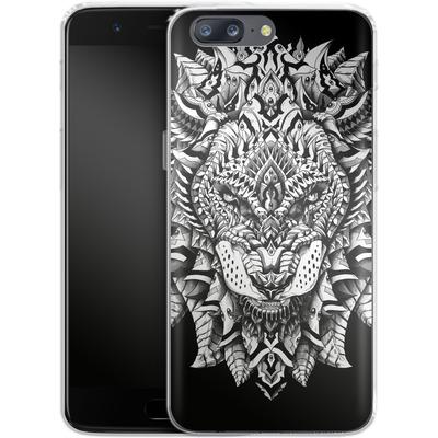 OnePlus 5 Silikon Handyhuelle - Ornate Lion von BIOWORKZ