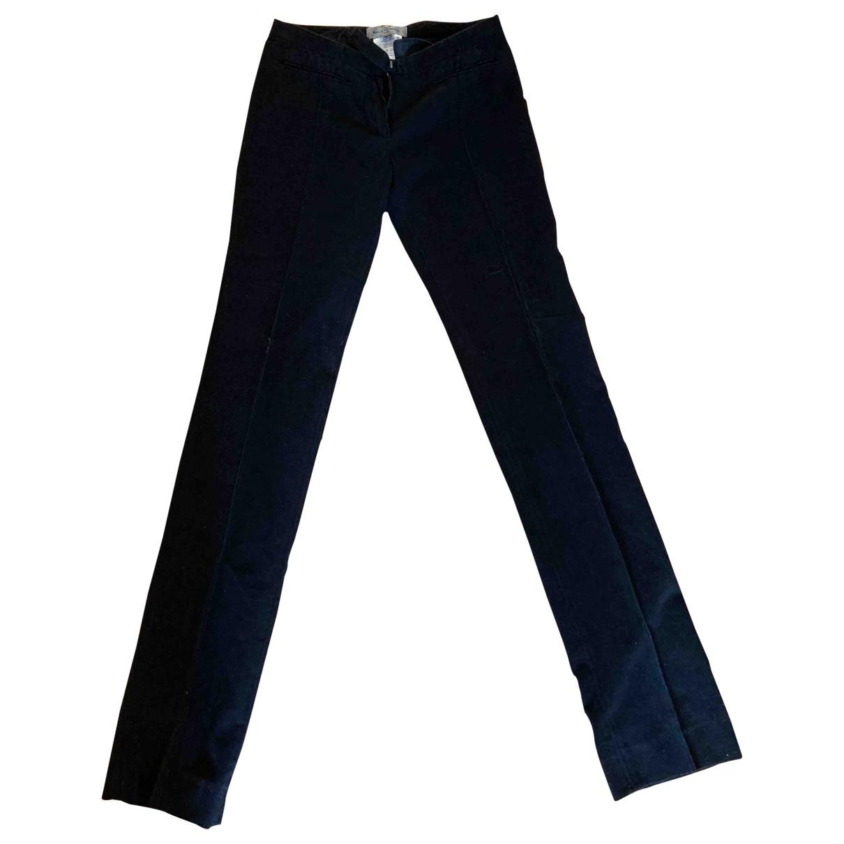 Balenciaga \N Black Velvet Trousers for Women 36 FR