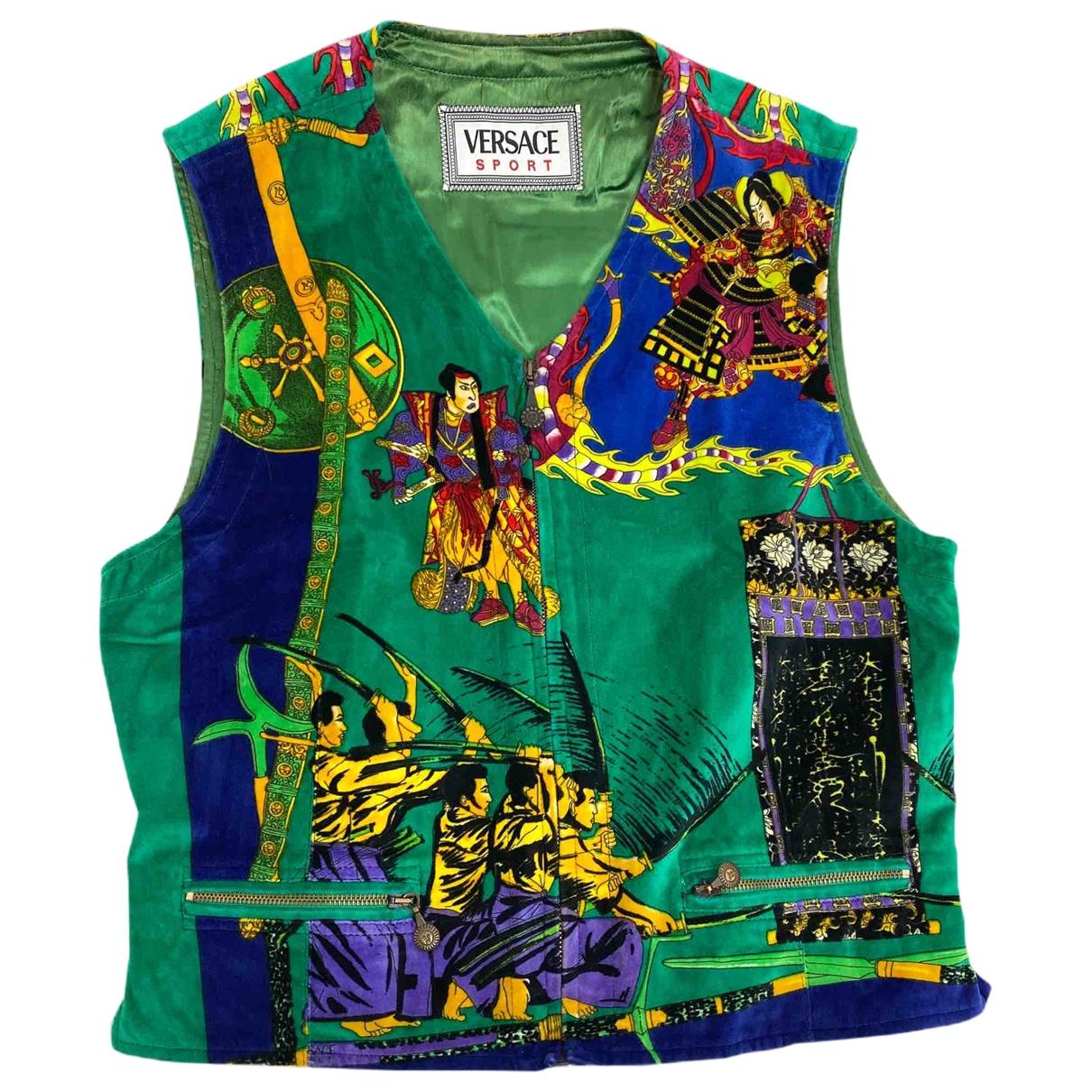 Gianni Versace \N Green Cotton Knitwear & Sweatshirts for Men 50 IT