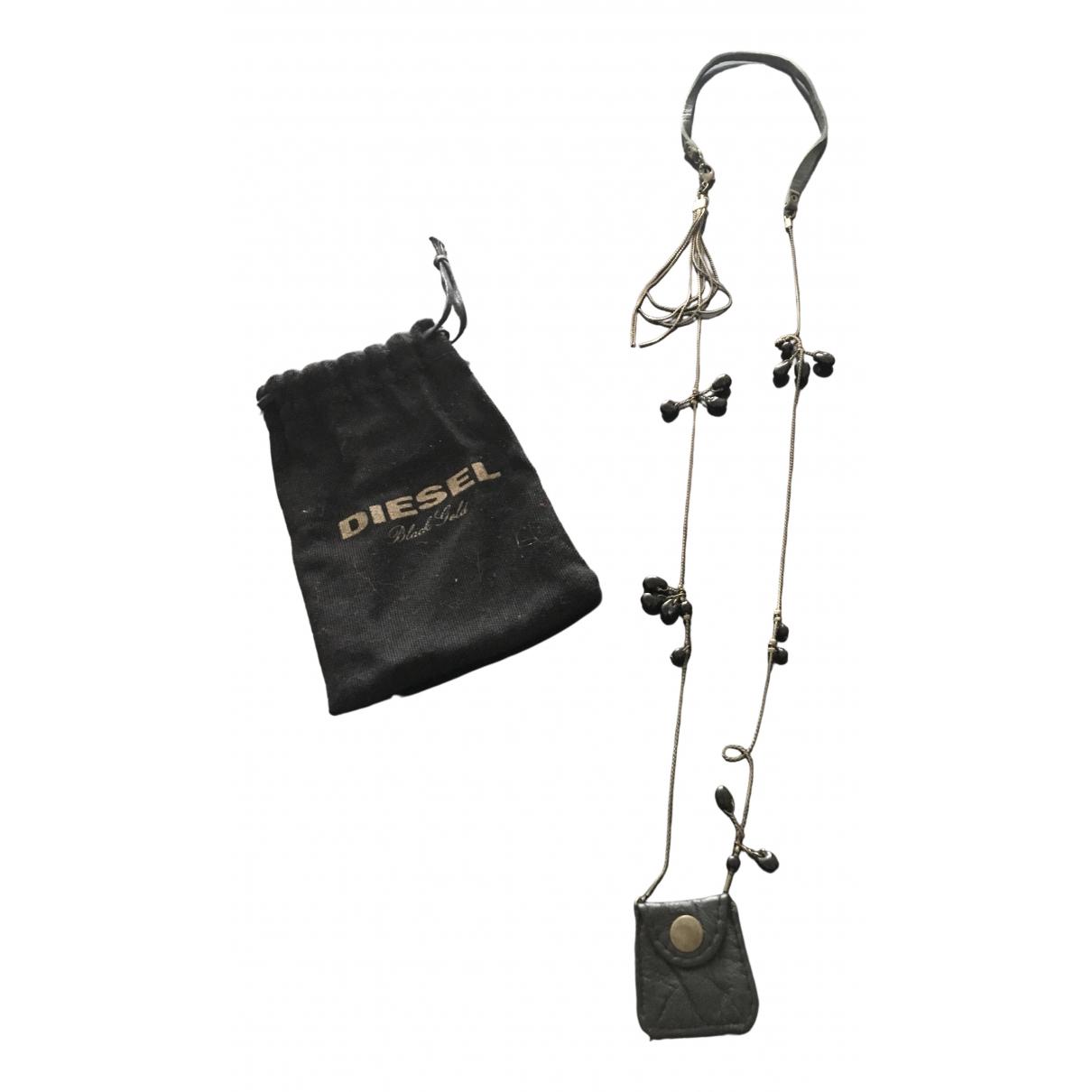 Diesel Black Gold \N Kette in  Schwarz Leder
