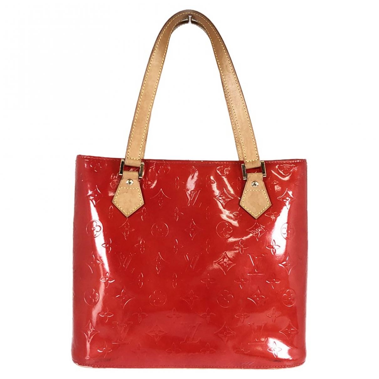 Louis Vuitton - Sac a main Houston pour femme en cuir - rouge