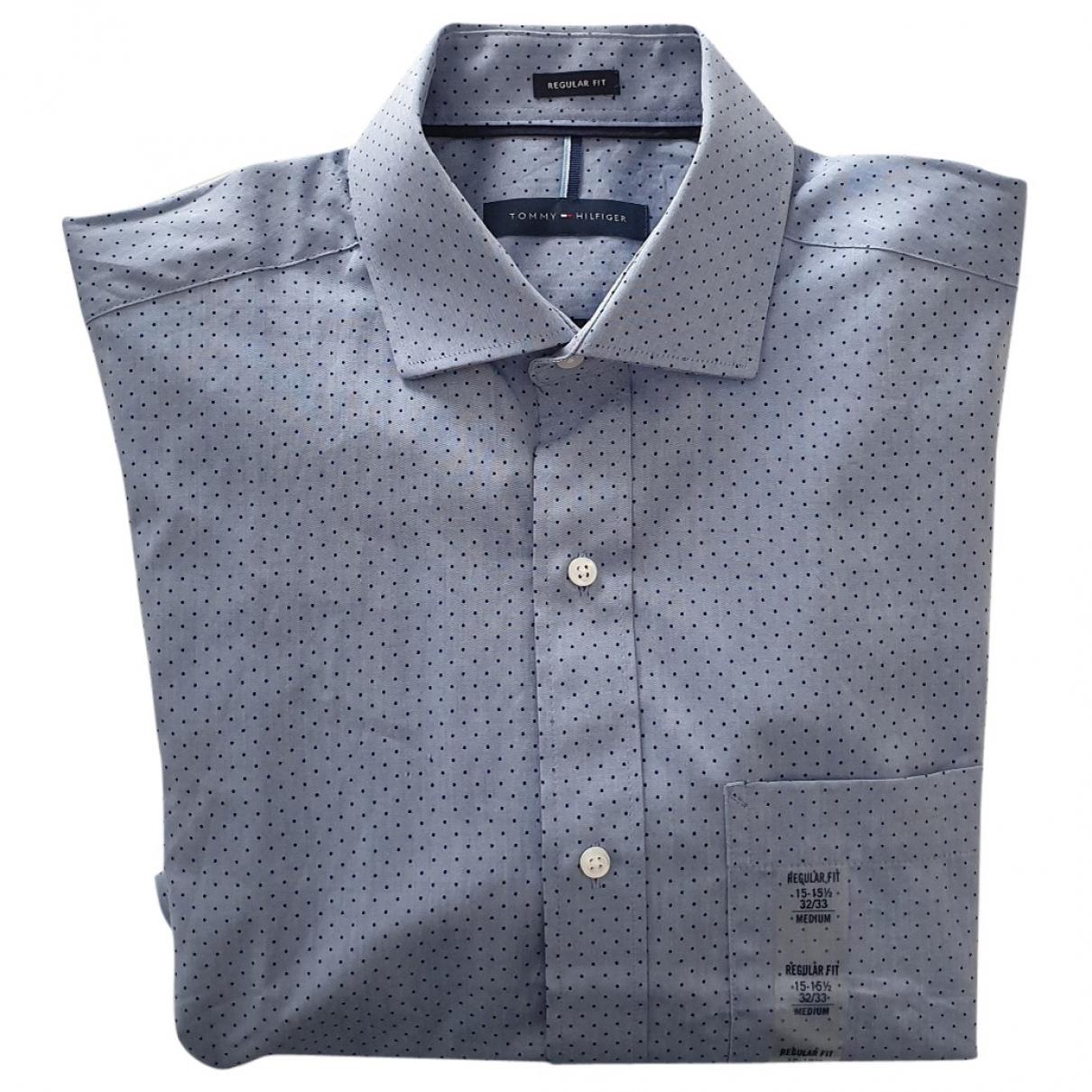 Tommy Hilfiger - Chemises   pour homme en coton - bleu
