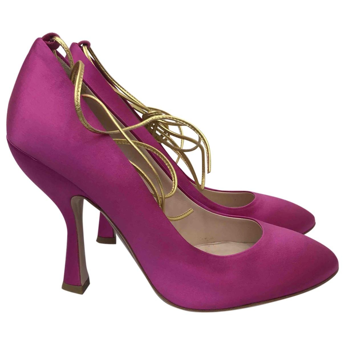 Miu Miu \N Pink Cloth Heels for Women 37.5 EU