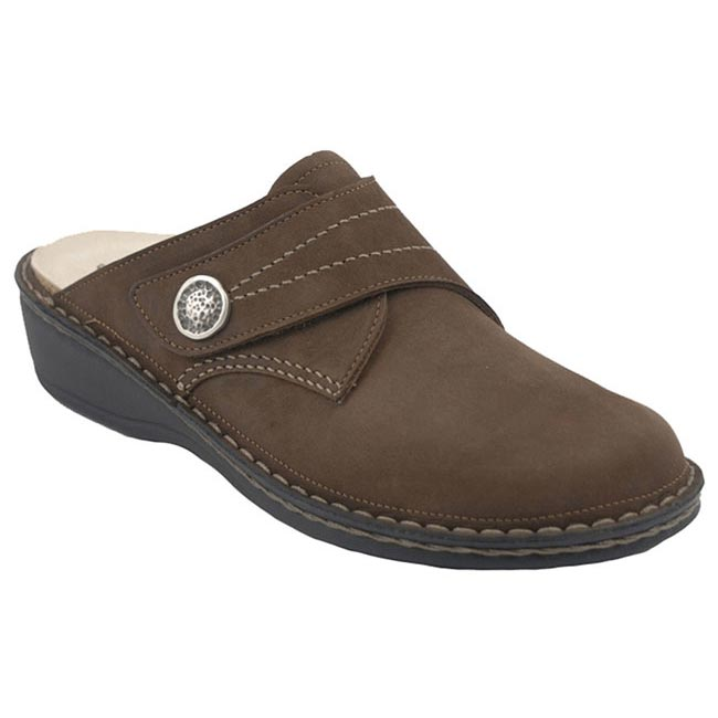 Finn Comfort Santa Fe Wood Leather Soft Footbed 36