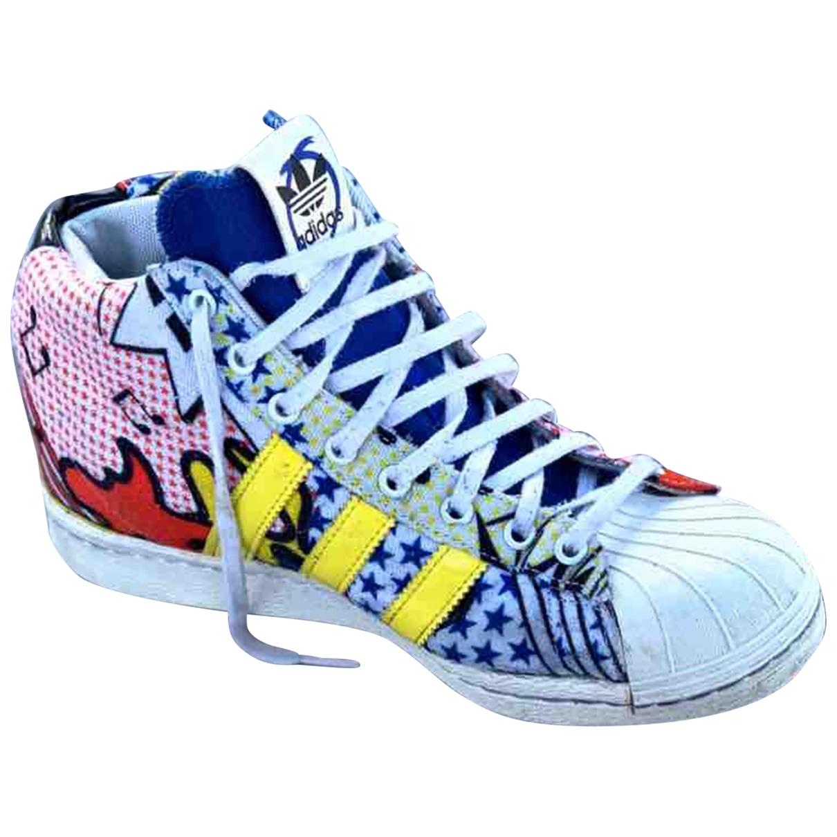 Adidas - Baskets Superstar pour femme en toile - multicolore