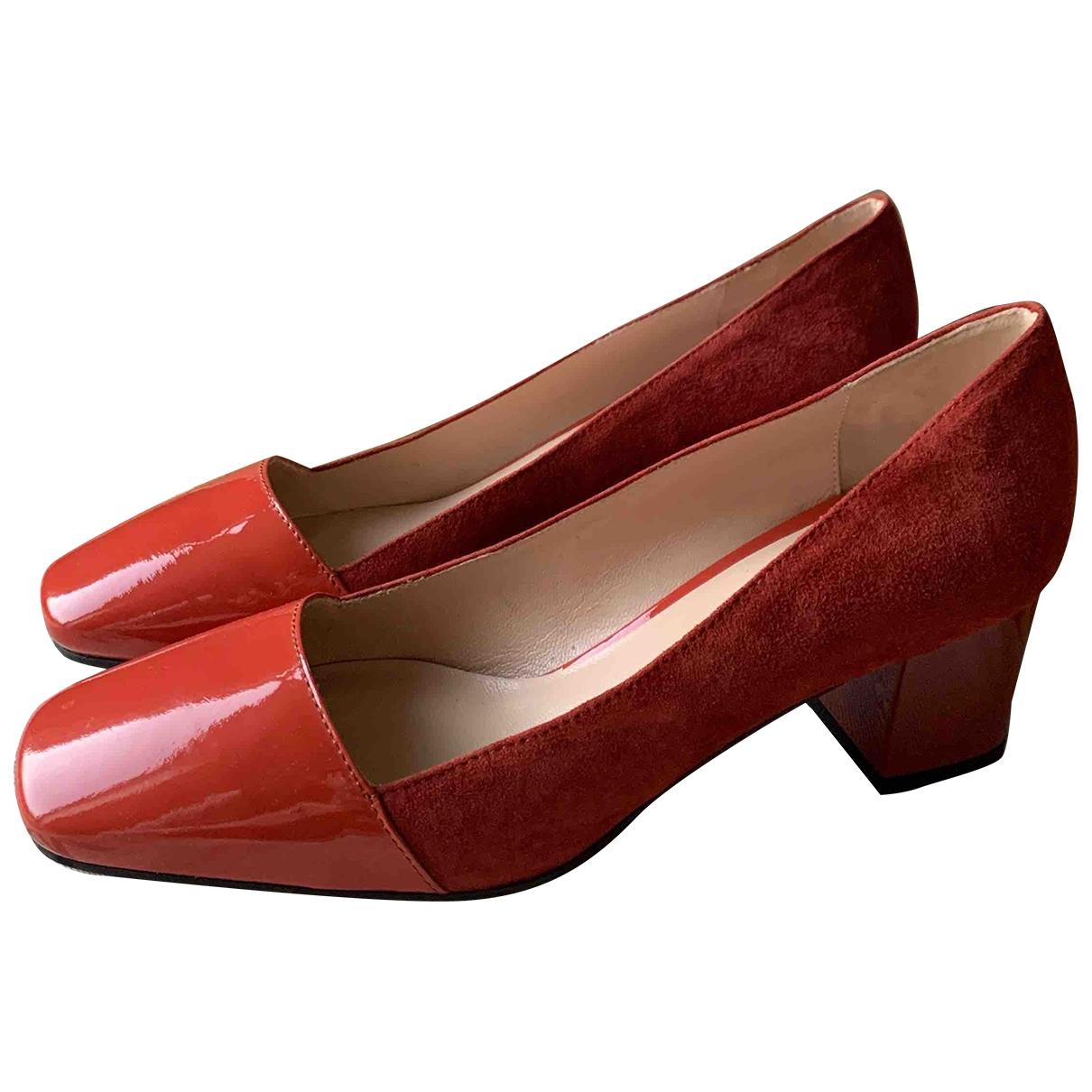 Max Mara - Escarpins   pour femme en cuir verni - rouge