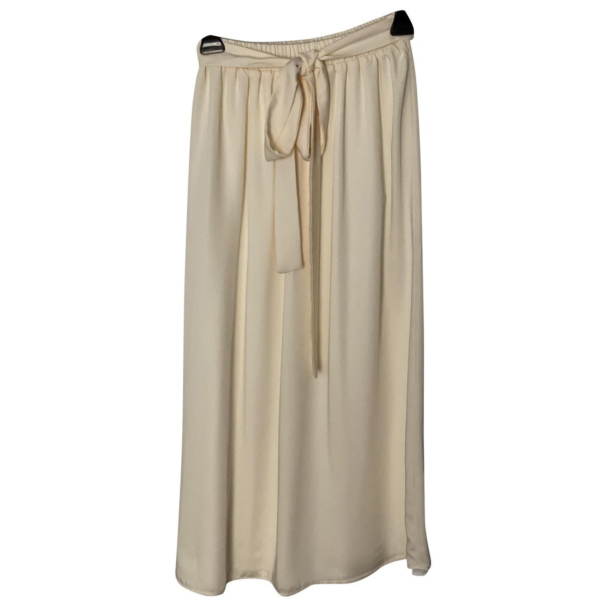Non Signé / Unsigned Oversize Ecru skirt for Women M International