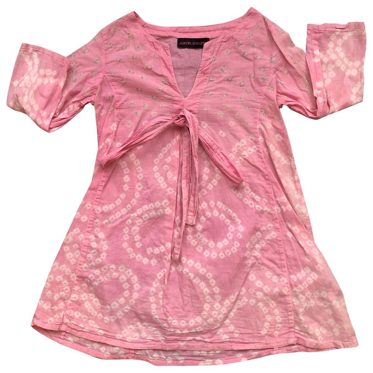 Antik Batik \N Kleid in  Rosa Baumwolle