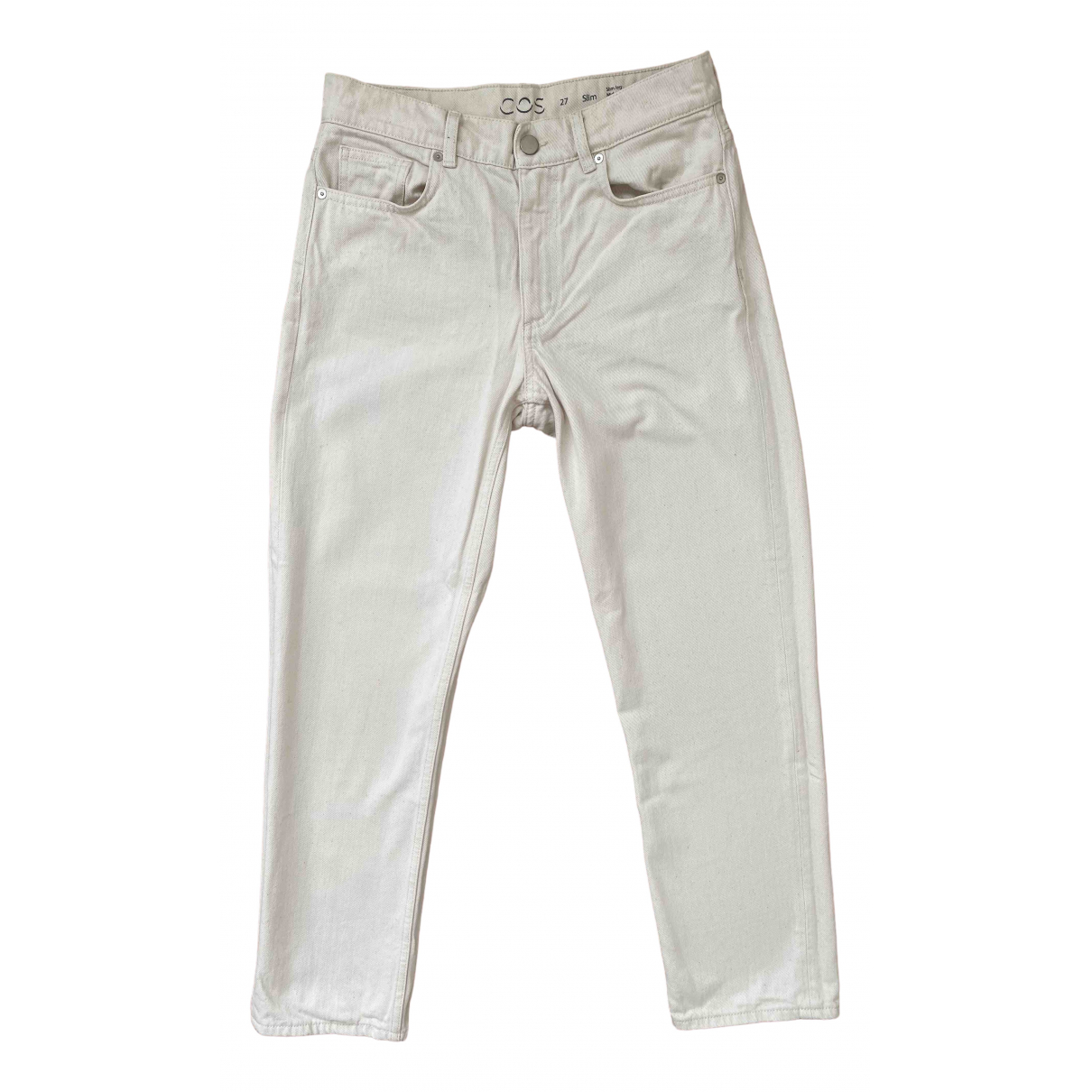 Cos \N Ecru Cotton Jeans for Women 27 US