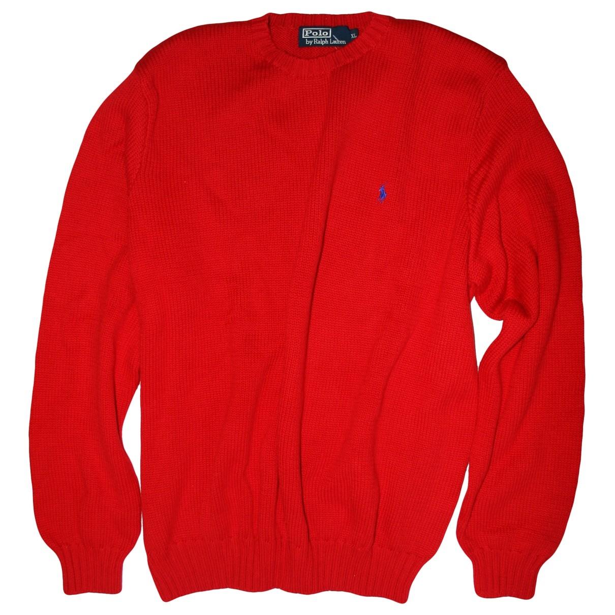 Polo Ralph Lauren \N Red Cotton Knitwear for Women XL International