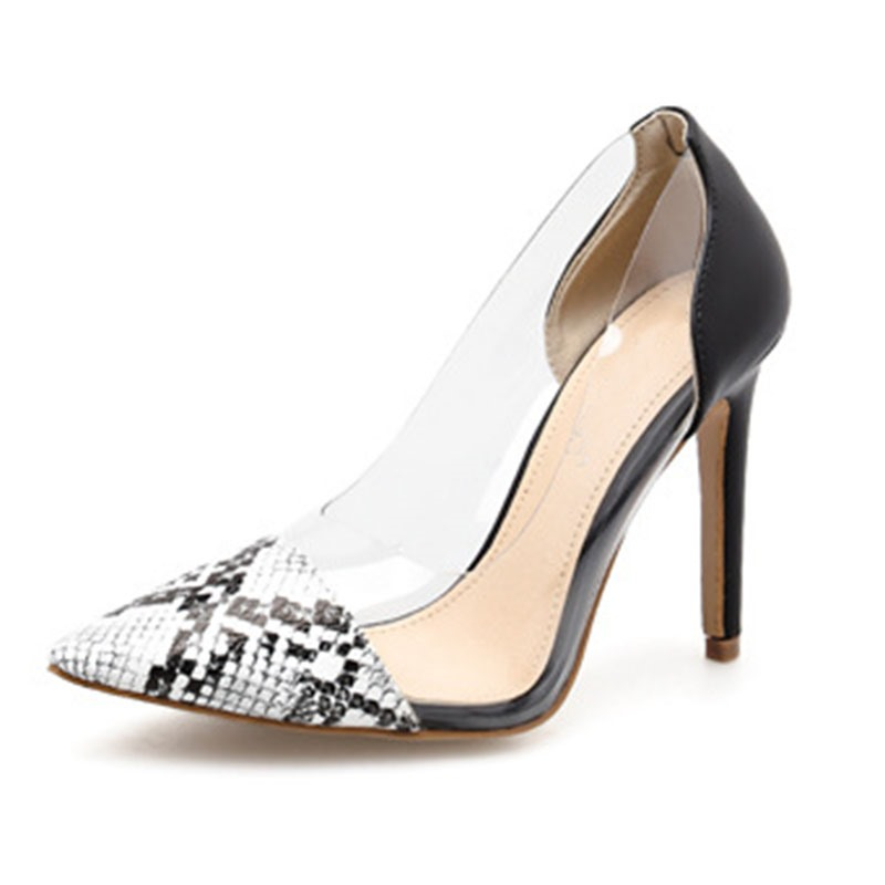 Ericdress Pointed Toe Slip-On Serpentine Low-Cut Upper Pumps