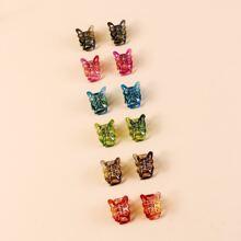 12 Stuecke Maedchen Haarklaue mit Schmetterling Design