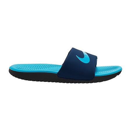 Nike Little/Big Kid Boys Kawa Slide Sandals, 11 Medium, Blue
