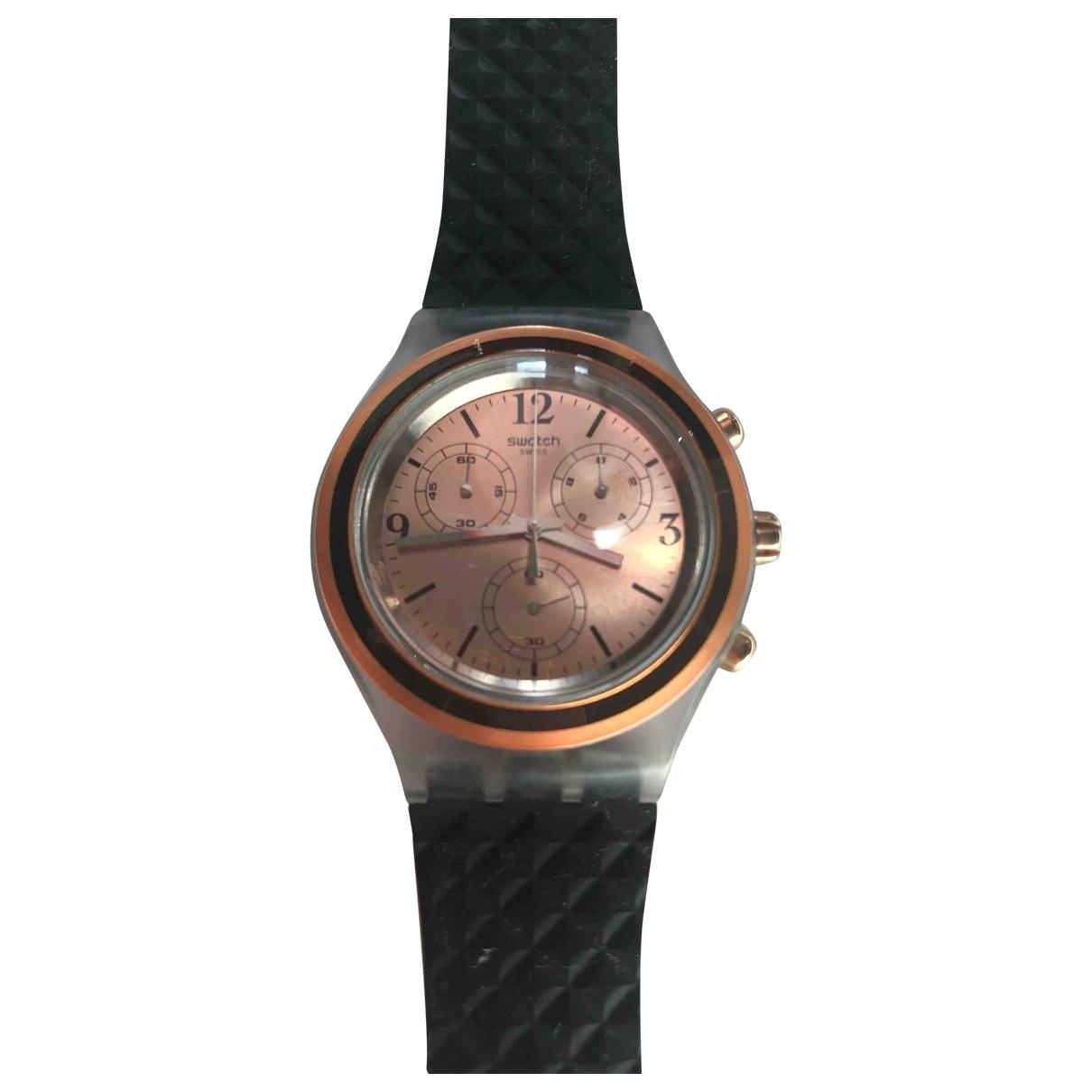 Swatch \N Uhr in  Gold Stahl