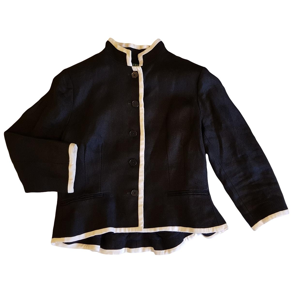 Ralph Lauren Collection - Veste   pour femme en lin - noir