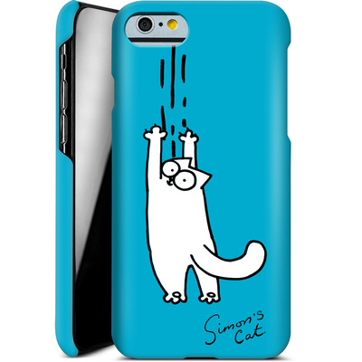 Apple iPhone 6s Smartphone Huelle - Scratching Over Blue von Simons Cat