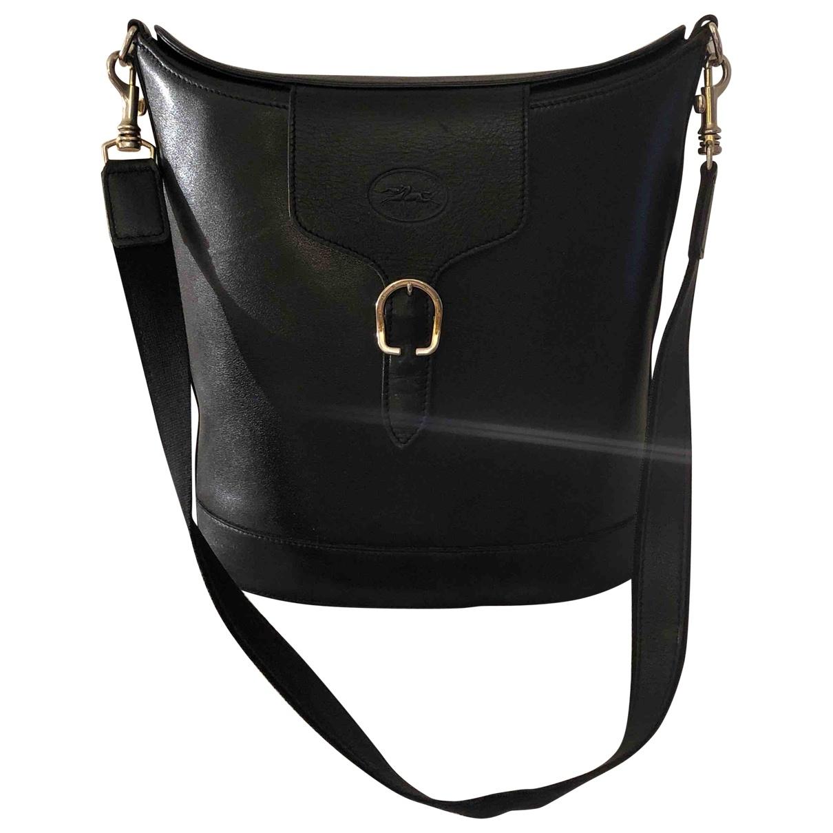 Longchamp - Sac a main Balzane pour femme en cuir - noir