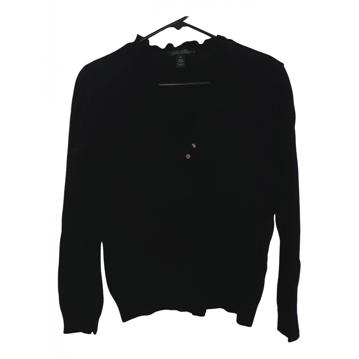 Lauren Ralph Lauren - Pull   pour femme en coton - noir