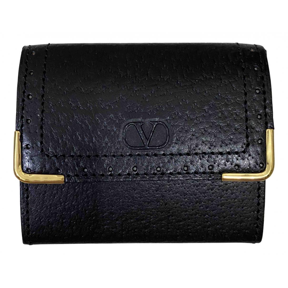 Valentino Garavani - Petite maroquinerie   pour femme en cuir - noir